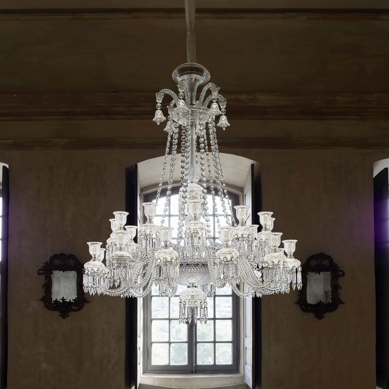 Lustre Contemporain En Cristal Par Philippe Starck Zenith Long