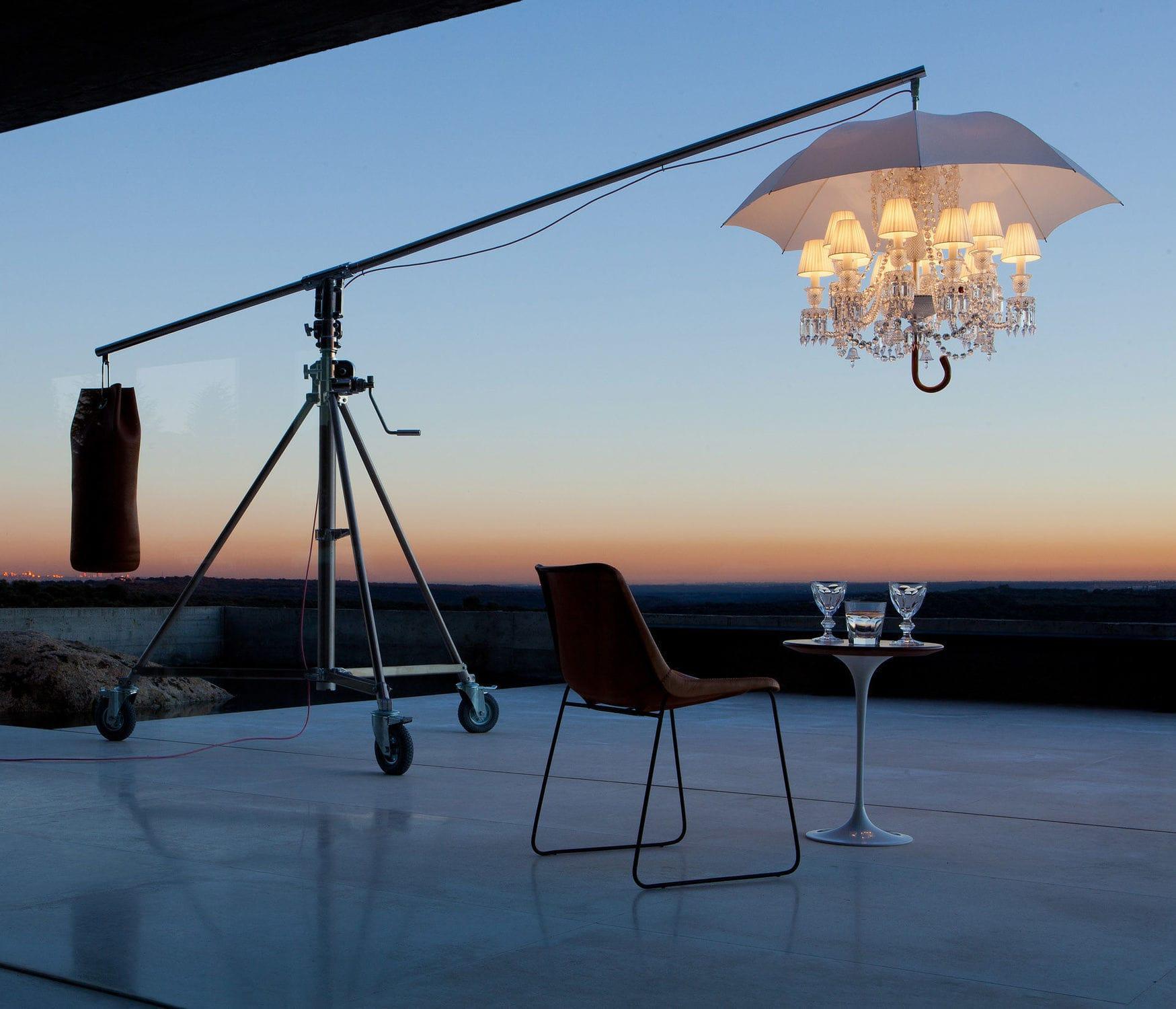 Lampe Sur Pied Design Original En Cristal En Cuir Marie