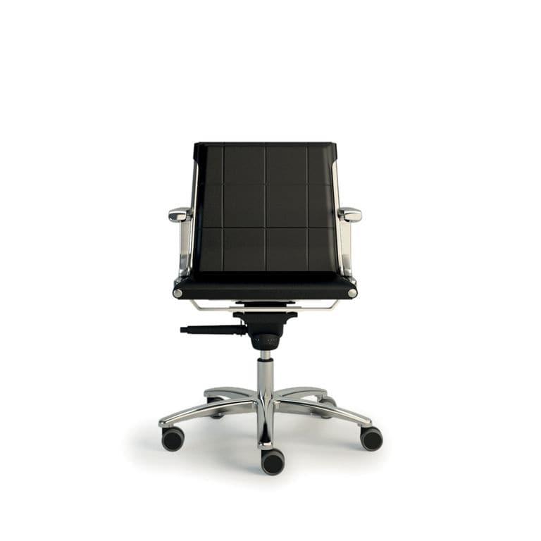 Chaise De Bureau Contemporaine A Roulettes Pietement Etoile Avec Accoudoirs