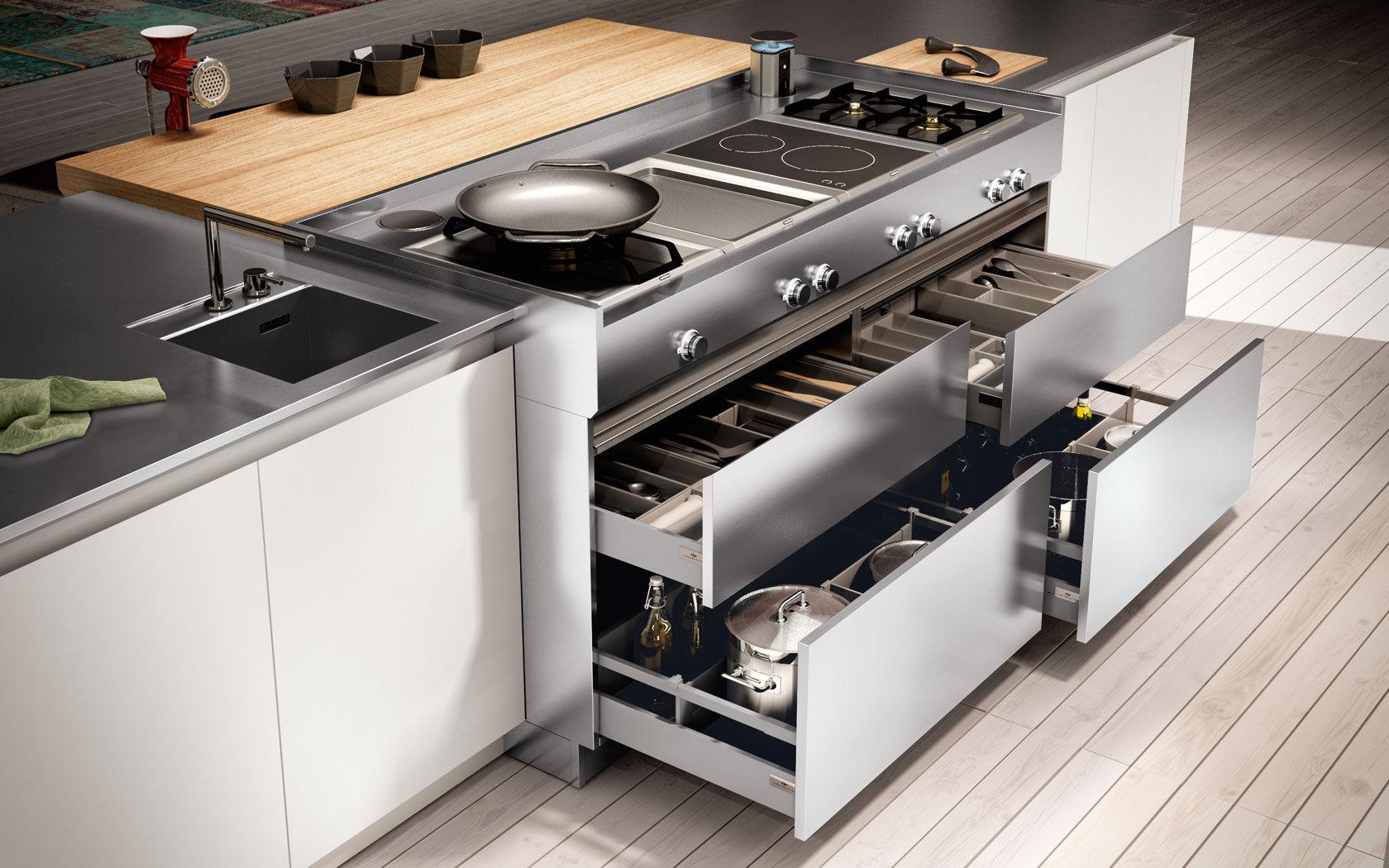 tiroir pour cuisine - ambra - lineaquattro