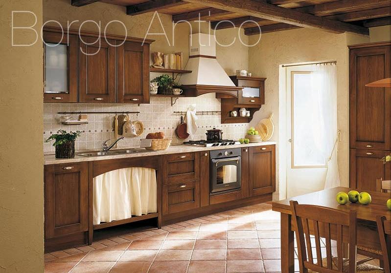 Cuisine classique / en bois massif / en bois / avec poignées - BORGO ...