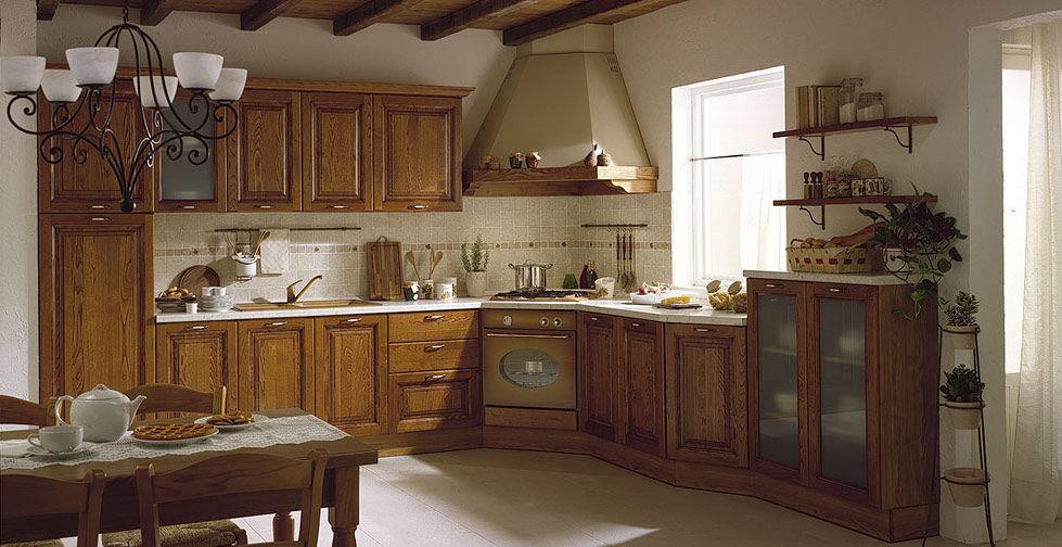 cuisine classique en bois fiesole 02 - Cuisine Classique En Bois Massif
