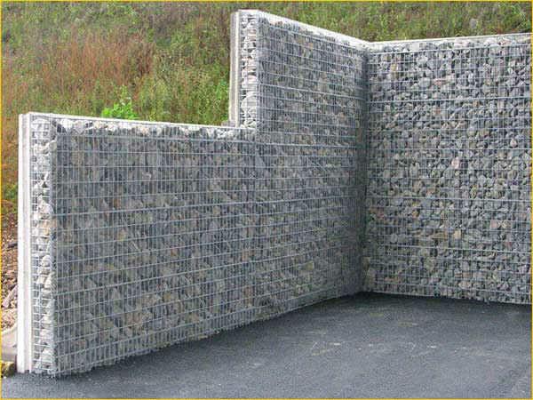 Plaquette de parement en pierre naturelle extérieure gabion