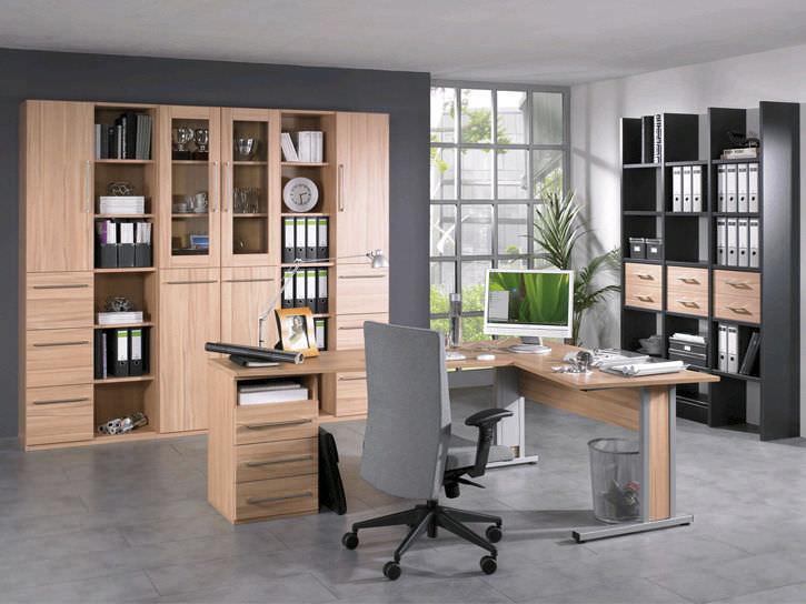 Bibliothèque contemporaine pour bureau en bois easy office