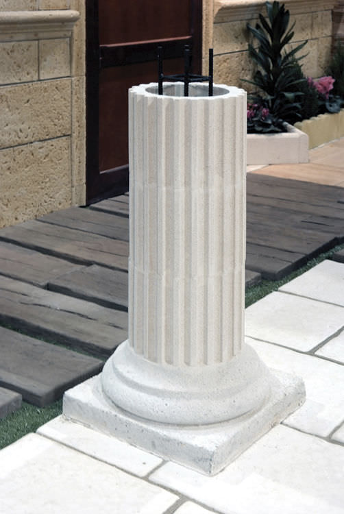 Colonne pierre decorative