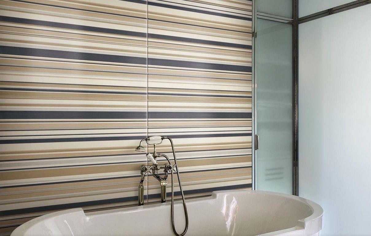 Nouvelle Tendance Faience Salle De Bain ~ carrelage de salle de bain mural en c ramique rayures