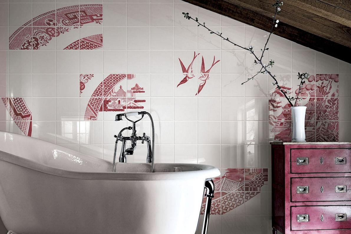 Salle De Bain Burgbad Solde ~ carrelage de salle de bain mural en c ramique motif nature