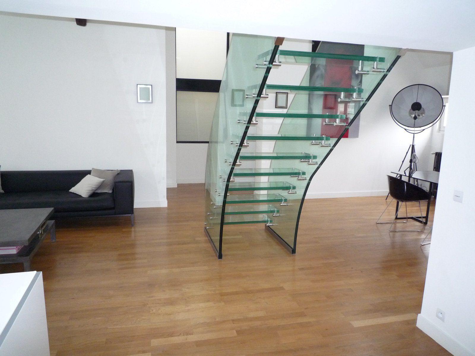 Escalier Droit Sans Rampe se rapportant à escalier droit / marche en verre / structure en verre / sans