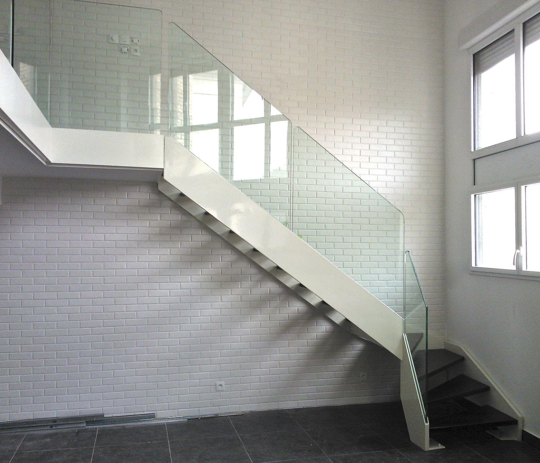 Escalier Droit Sans Rampe intérieur escalier quart tournant / marche en bois / structure en acier / sans