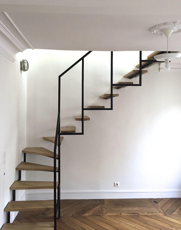 escalier helicoidal sans garde corps