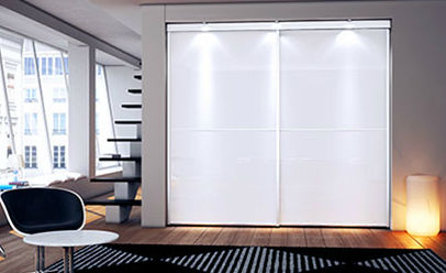 Porte Dintérieur Pour Placard Pour Dressing Coulissante - Porte placard coulissante avec portes interieures vitrees modernes