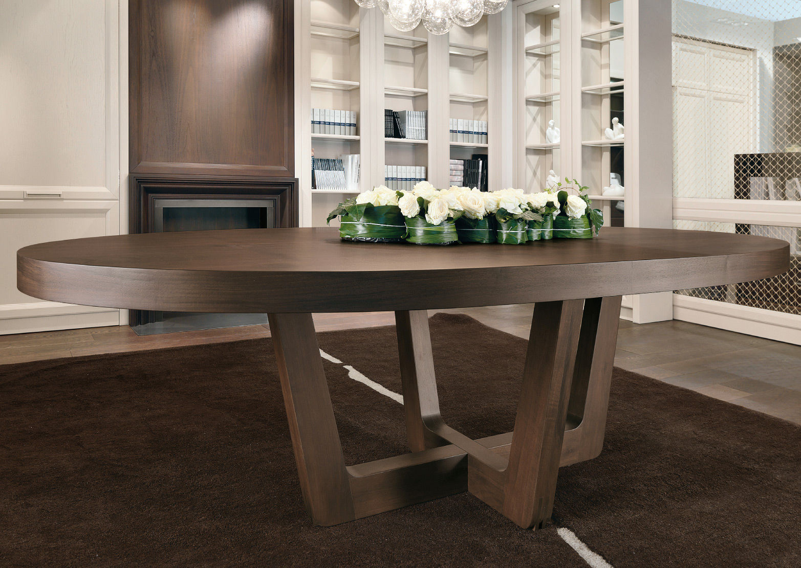 table contemporaine ovale