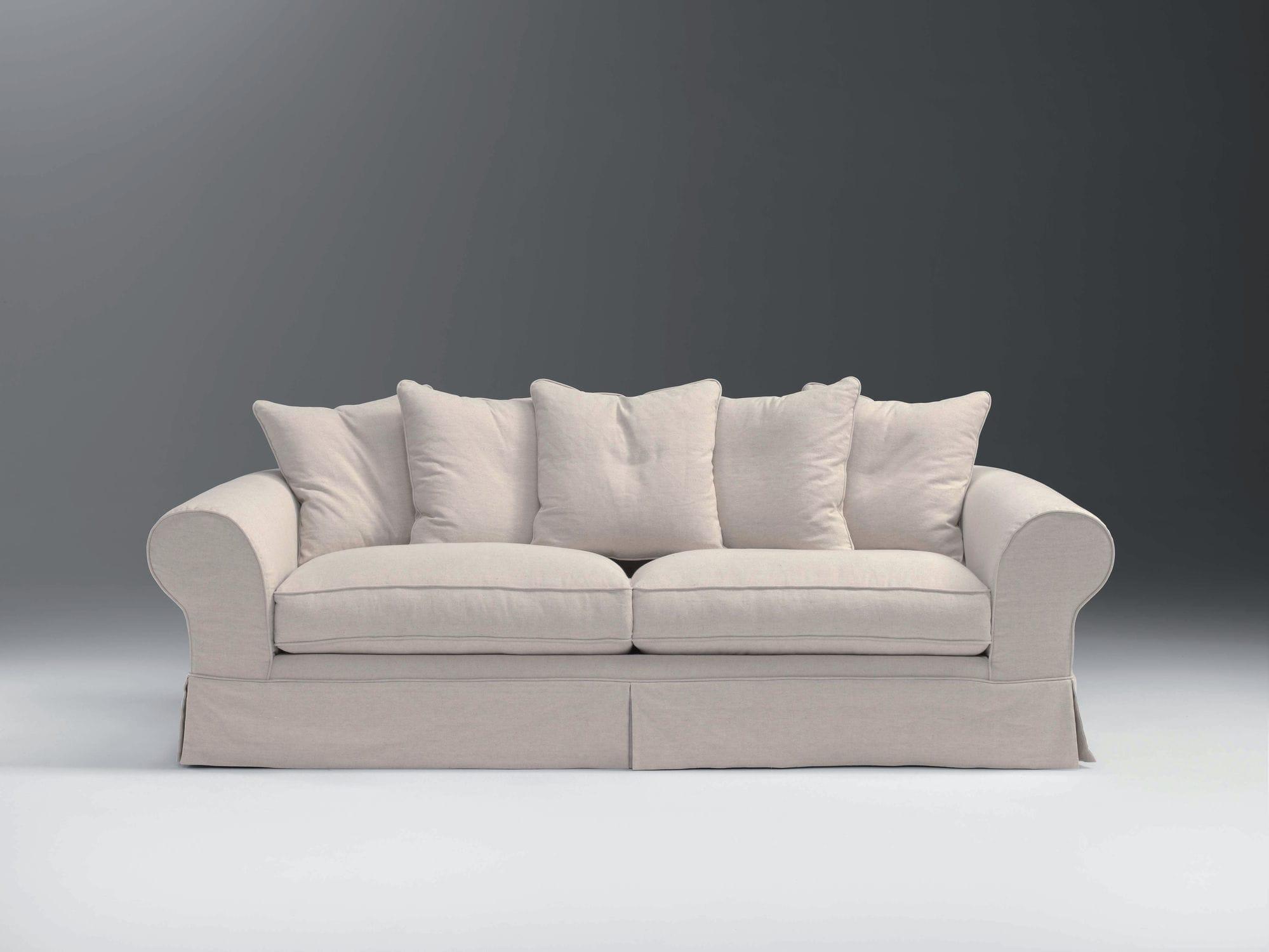 Canapé Classique En Tissu Places Gris MAURICE APULIA - Canapé classique