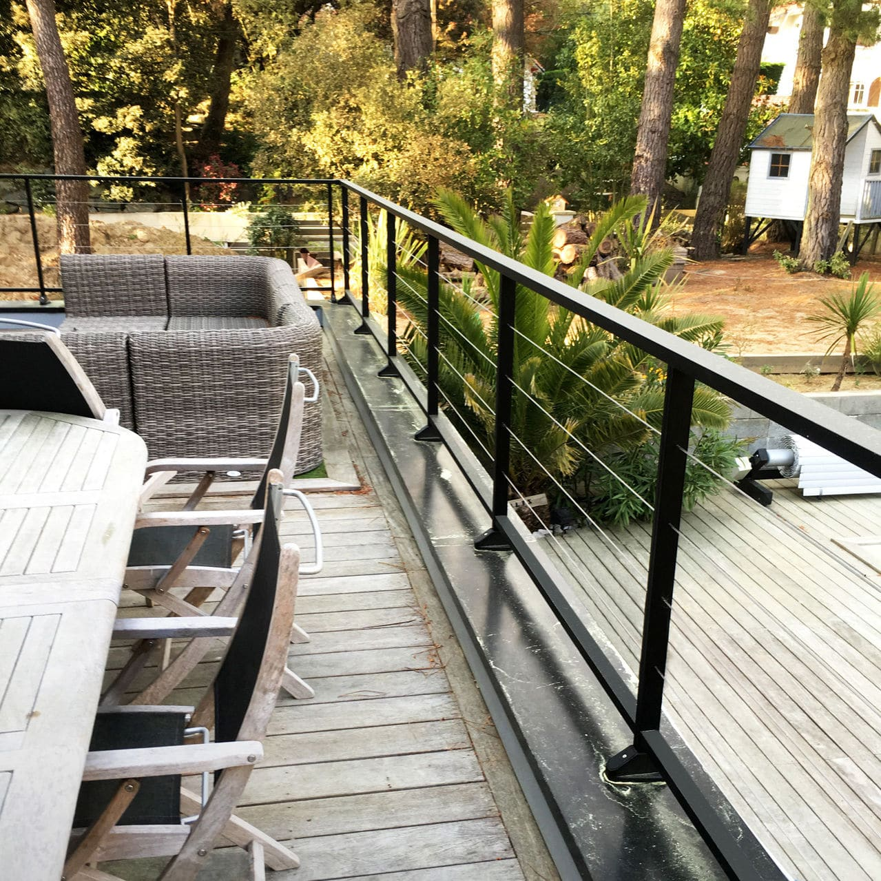 Garde-corps en aluminium / en câble / d\'extérieur / pour terrasse ...