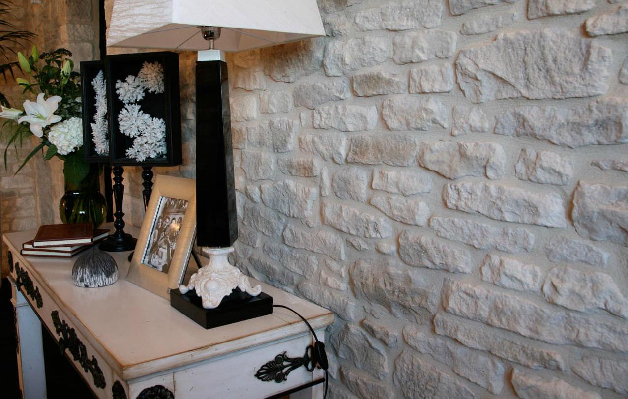 Plaquette de parement de pierre / intérieure / aspect pierre ...