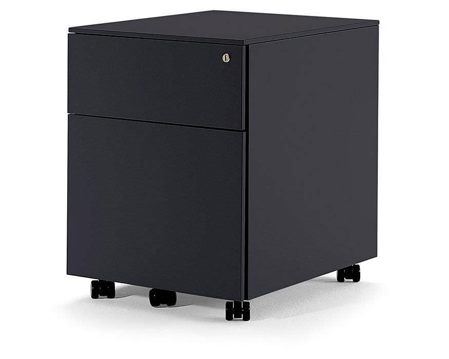 Caisson de bureau en métal à 3 tiroirs à 2 tiroirs à roulettes
