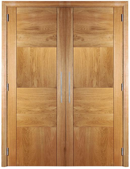 Porte Pour Placard Battante En Chêne Double Vantaux DAMIER - Porte placard coulissante et porte d interieur double vantaux