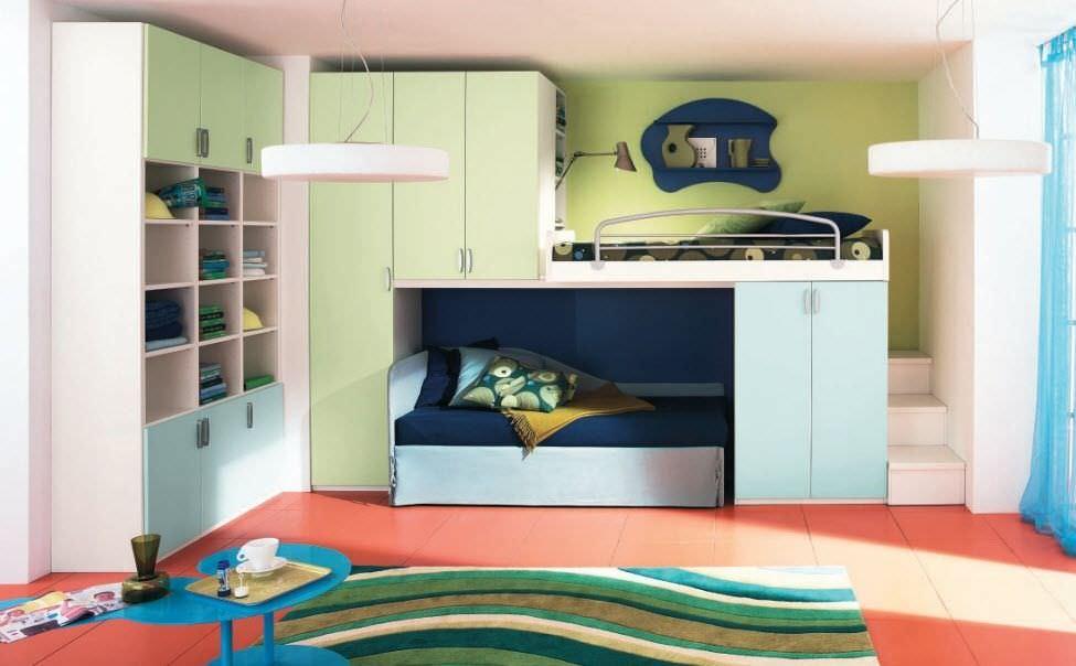 lit superpos contemporain avec rangement pour enfant unisexe 125 c - Lit Superpose Avec Rangement