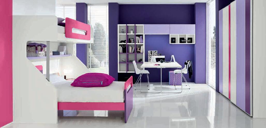 Chambre d\'enfant pour fille / violette - 07 - Marka Industria Mobili