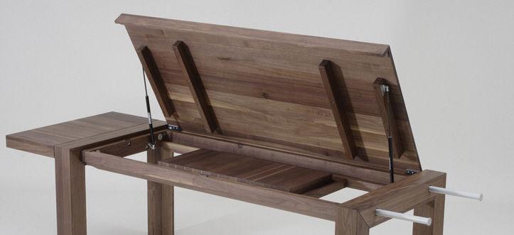table contemporaine en bois à rallonge lascano techno zack