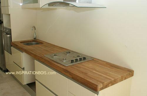 cuisine plan de travail bois. dans un plan de travail bois massif