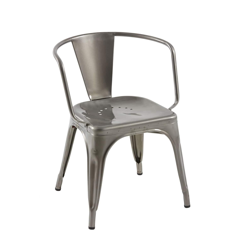 Chaise De Style Industriel Avec Accoudoirs En Acier