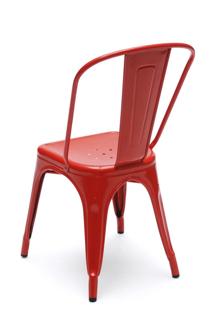 Chaise De Style Industriel Empilable En Acier Inoxydable Peint