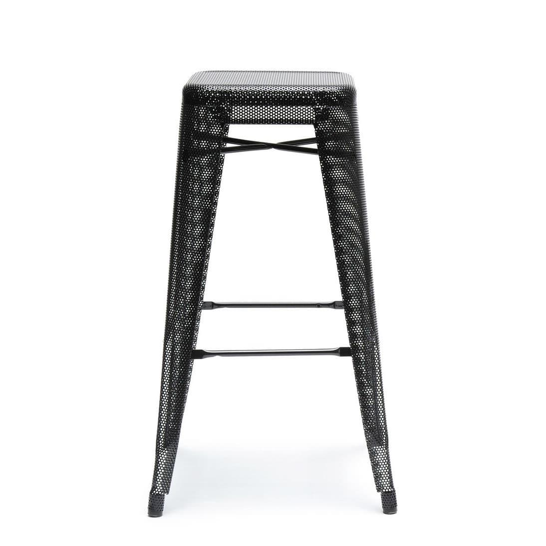 tabouret de bar contemporain   en acier   en acier laqué   empilable - H75  PERFORÉ by Chantal Andriot b791a4a3158c