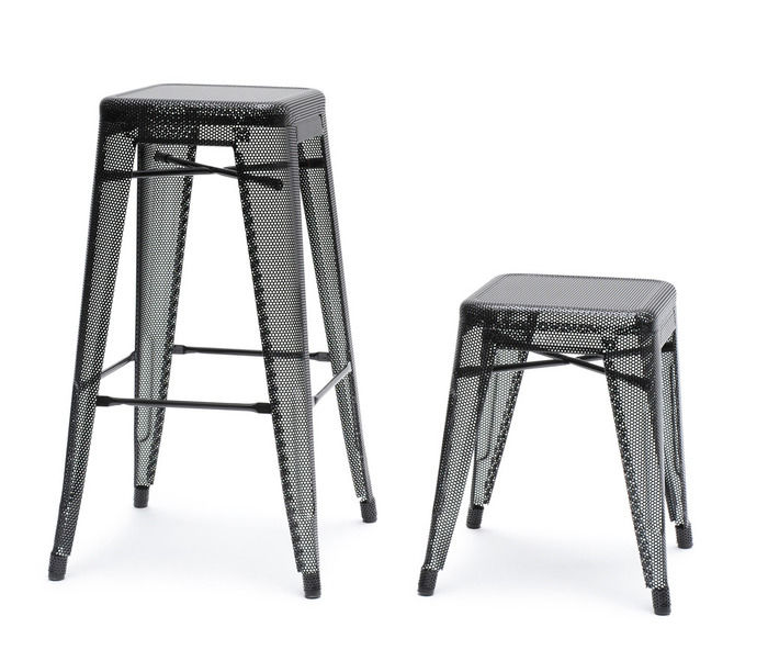 tabouret de bar contemporain / en acier / en acier laqué ... - Chaise De Bar Tolix