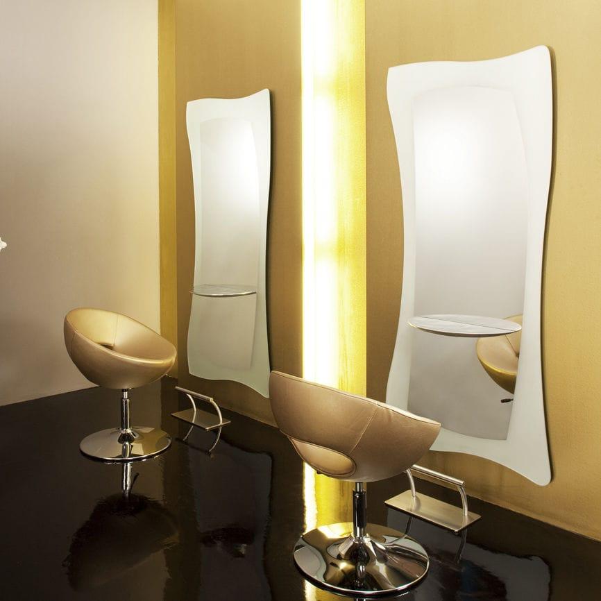 Coiffeuse contemporaine / en aluminium / murale / pour salon de ...