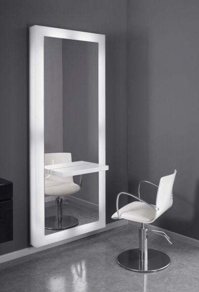 Coiffeuse contemporaine / en Plexiglas® / murale / pour salon de ...