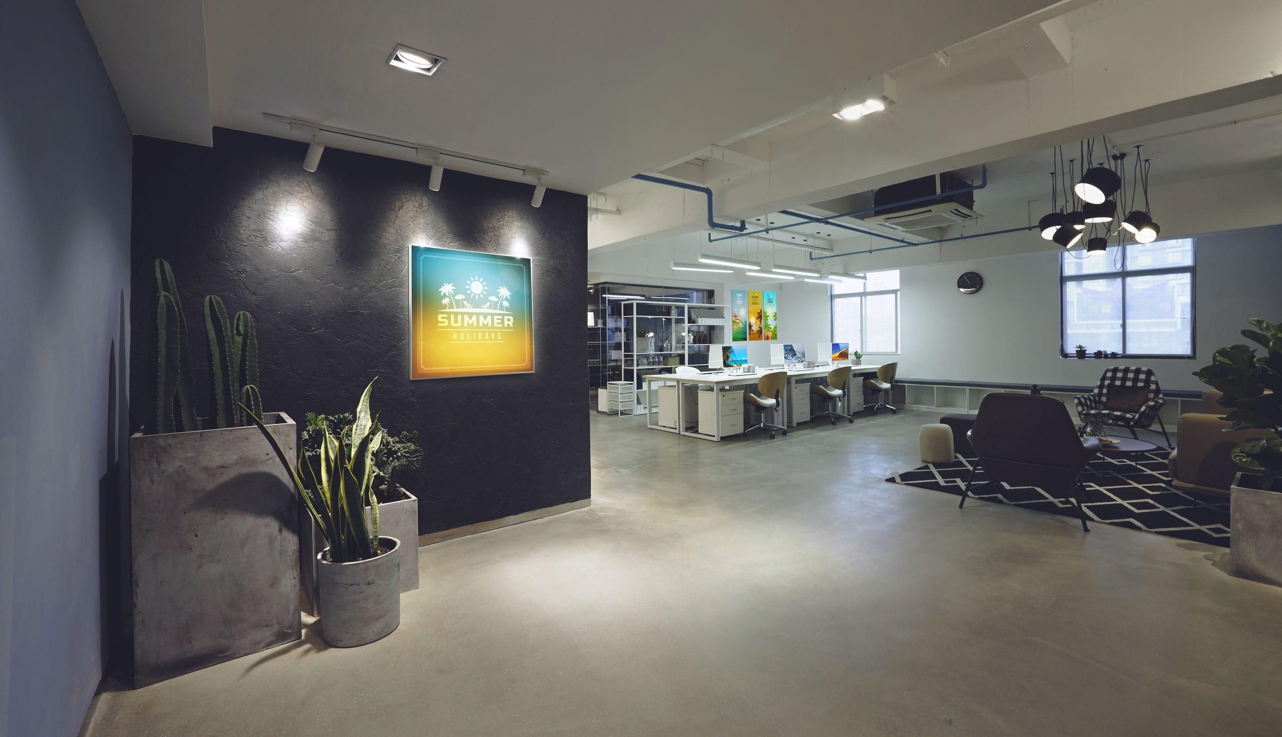 Panneau Led Mural Tissu Lumineux T Frame Studio T