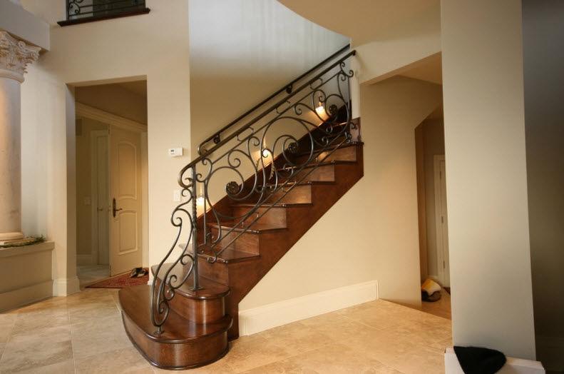 Garde-corps en fer forgé / à barreaux / d\'intérieur / pour escalier ...