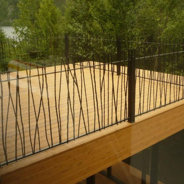 garde-corps en fer forgé / à barreaux / d'extérieur / pour balcon