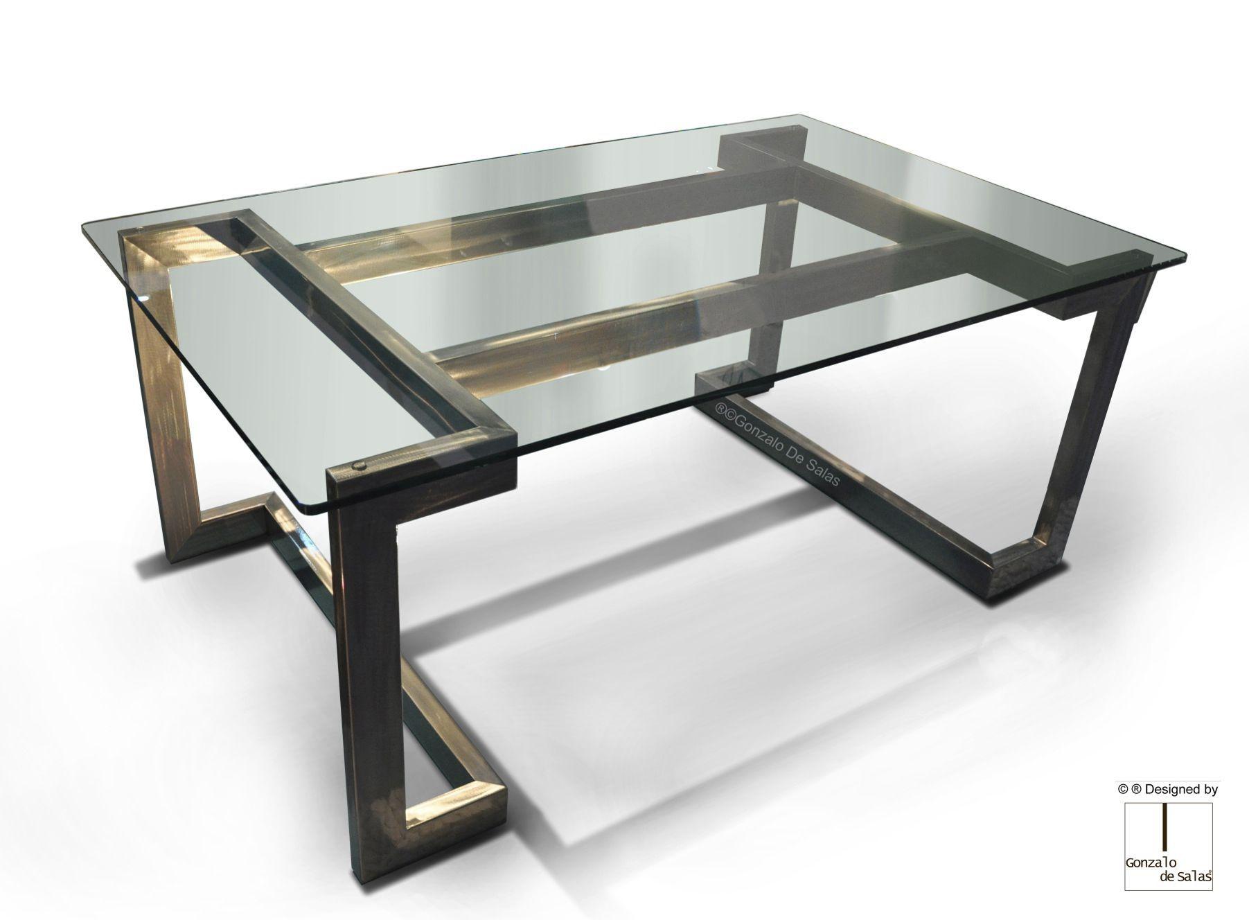 Bureau blanc design Élégant bureau design métal inox et verre