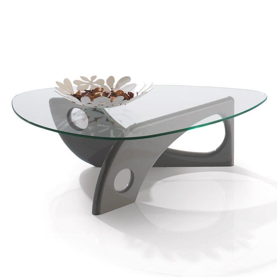 Table En Verre Salon Table Basse En Bois Et Verre Amoretti Decoration
