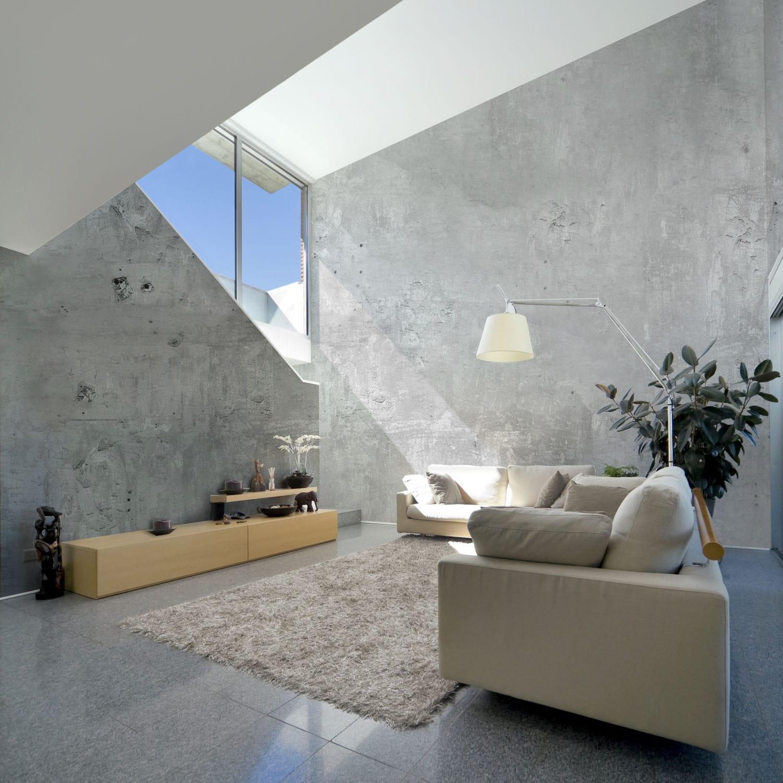 Papier Peint De Style Industriel Motif Urbain Aspect Beton