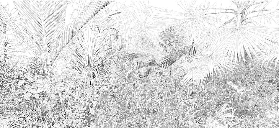 Papier Peint Design Original Floral A Motif Nature Imprime
