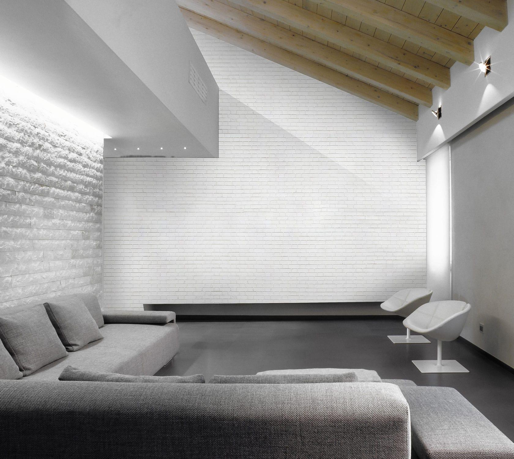 Papier Peint De Style Industriel Motif Urbain Briques Blanches