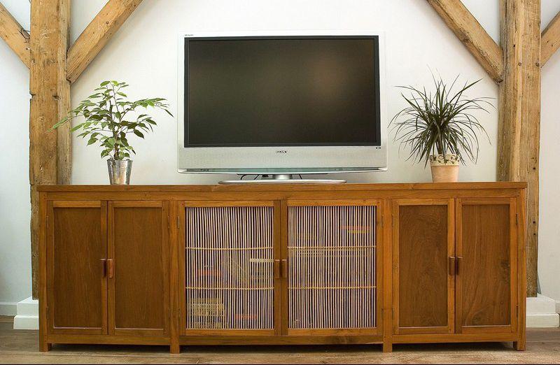 Meuble de télévision classique / en teck / en bambou - FTA RB TVSM ...