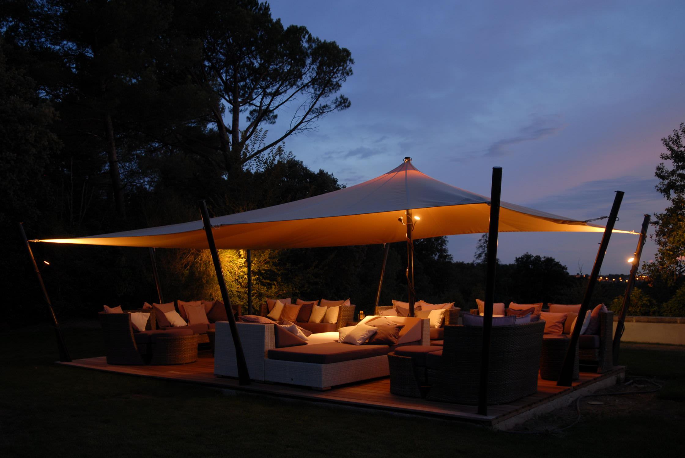 Tente Jardin. Top Amazing Free Gazebo Toit En Toile Tente Touareg ...