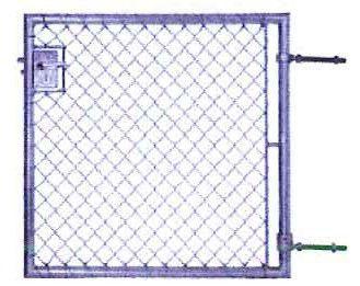Clôture de jardin / grillagée / en métal - VERT - Jacot des Combes
