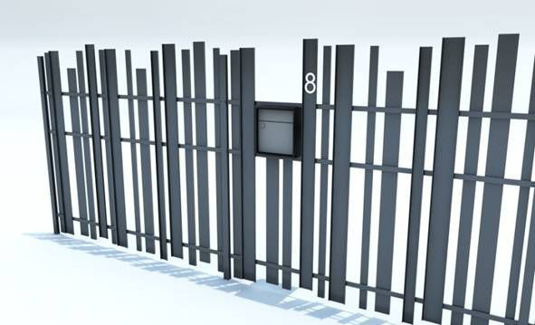 Clôture de jardin / à barreaudage / en aluminium / modulaire ...