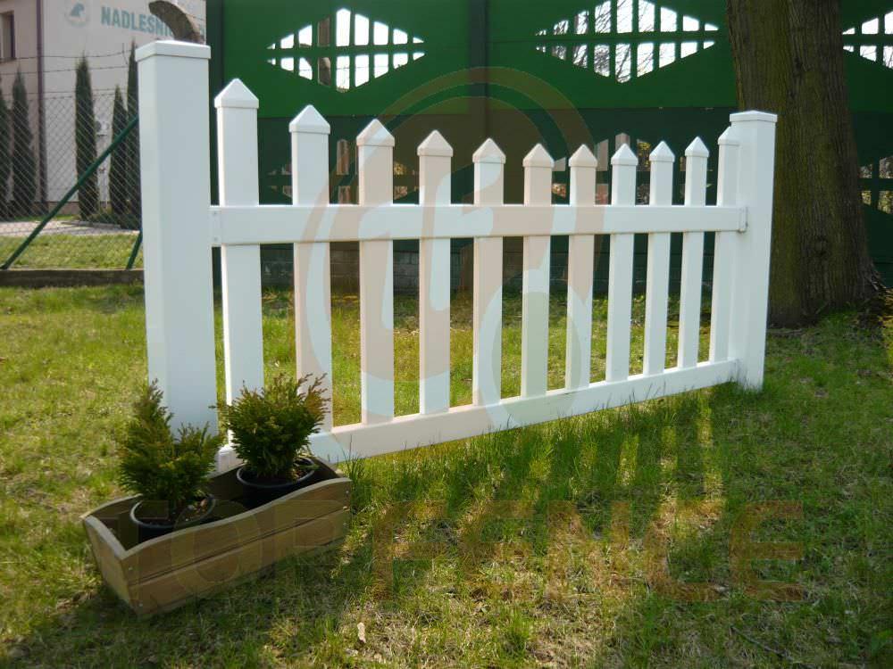 Clôture de jardin / à barreaux / en PVC - TRADITIONAL SCALLOPED ...