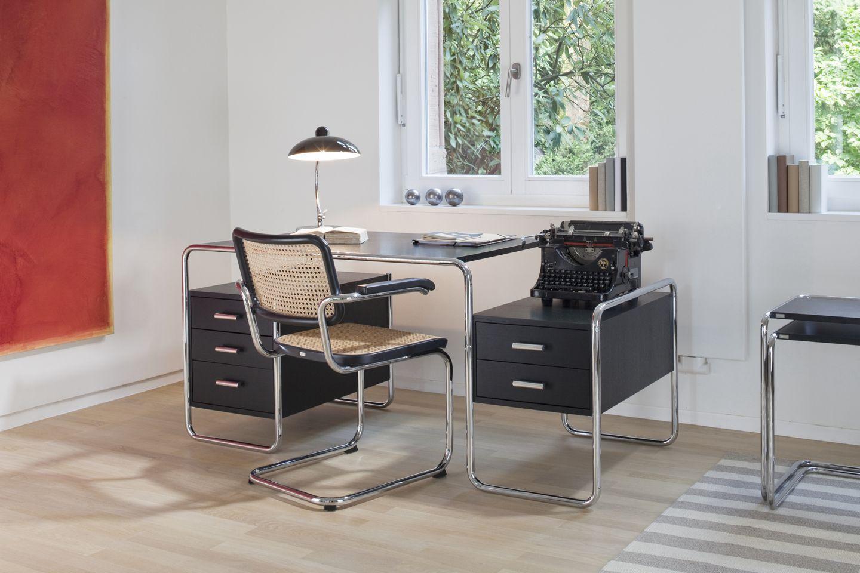 Bureau en bois en acier design bauhaus professionnel s