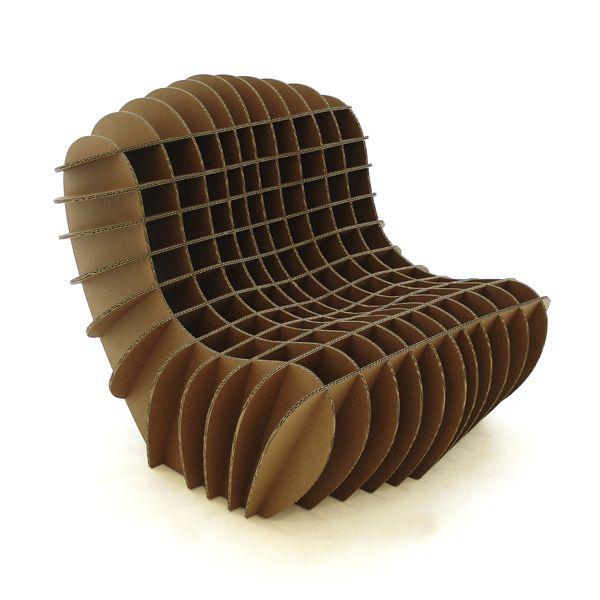 Connu Chaise longue design original / en carton - - DAVIS GRAAS DZ74