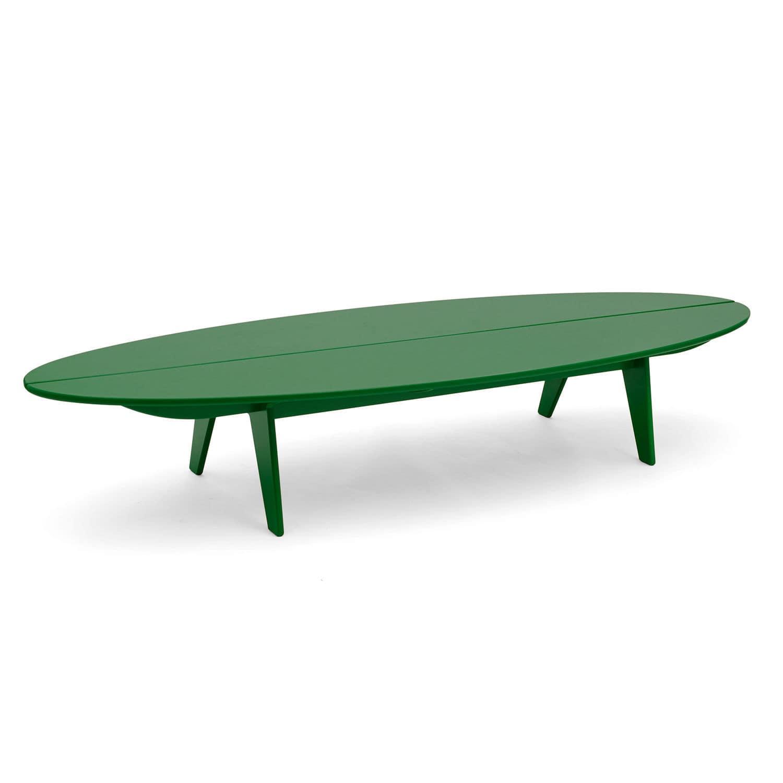Table basse contemporaine en polyéthyl¨ne ovale de jardin