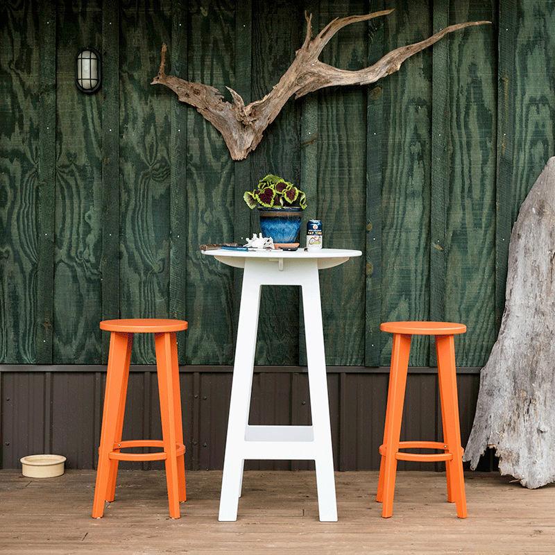FRESH AIR BAR TABLE - Table mange-debout contemporaine / en polyéthylène  haute densité pehd / ronde / de jardin by Loll Designs | ArchiExpo