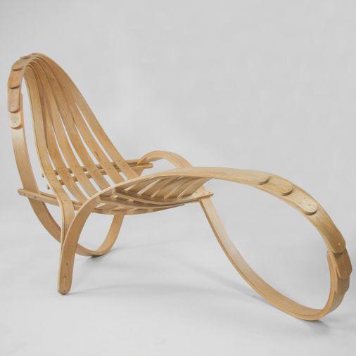 chaise longue design original / en bois / d'intérieur / de jardin ... - Chaise Longue Jardin Bois