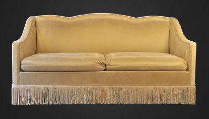 Canapé de style Napoléon III / en tissu / 3 places / marron - MARSAN ...